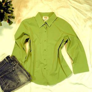 Talbots Tops - Talbots Petites Green Blouse Size 6